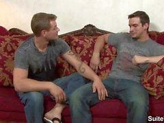 Sexuelle Tattoos Homosexuell Phenix Saint und Trent Diesel slurp ihre Stachel