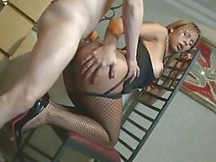 Latina shemale gets fisted and banged
