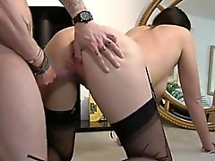 British milf cockriding in stockings