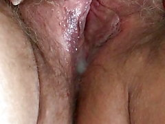 Playing With Cum Filled Hairy Older Pussy Part 3