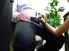 Naughty Secretary Blows Cock at the Office