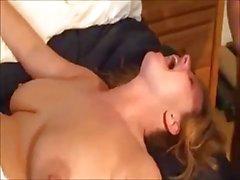 Sarışın Karısı iki Cocks Takes