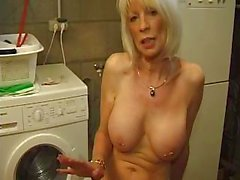 Dirty old hooker comes back again for lonely pussy playing