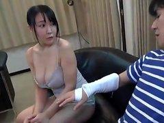 Huge boobs Japanese tart fucked hard