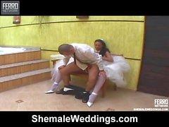 In der Nacht von nuptials schönen Brünette Frauen mit Schwanz fickt ihres Mannes