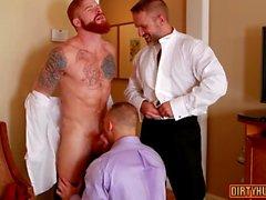 muscle Trio gay avec clip du visage