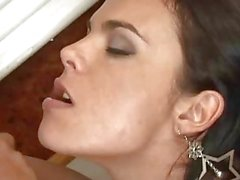 Laisa Lins Busty Shemale Pleasing A Big Cock