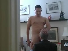old businessman daddy gets hard fucked by young guy