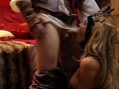 Mittelalterliche princess Jessica Drake ergibt Rachen Job und wird gefickt