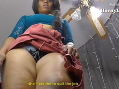 South Indian Tamil Maid fucking a virgin boy (English Subs)