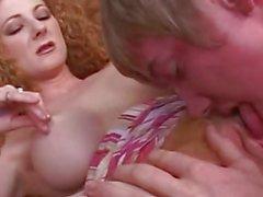 Redhead Annie Body Seduces Young Stud