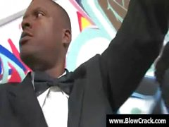Interracial Gangbang - The power of big black cock 02