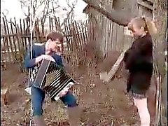 Russian Teen Girl Outdoor Fuck