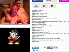 Hot French couple playing in front of cam