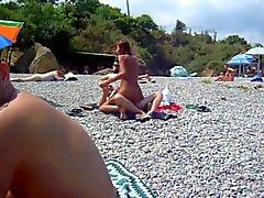 Russian Paare bumsen auf Strand