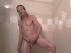 Yağ ile şehvetli cazip duş eğlencesi