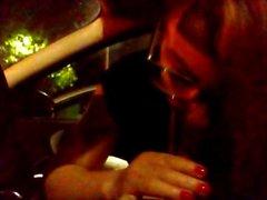 Car Flash Nuoret bitch on syvältä oman iso kalu !