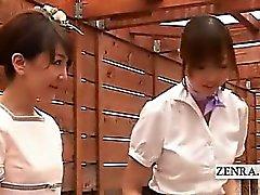 De CFNM em subepígrafe massagem japonesa cleanup fellatio esquisita