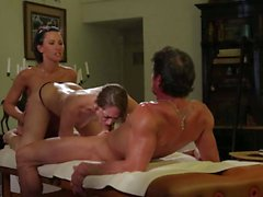 Three way massage with lovely Remy Lacroix