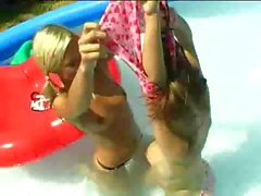 Girlies Having Fun In The Pool
