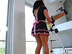 Jefe de cogiendo Su criada de Selena Ríos