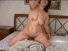 Russian mature Mom fucked her boy! Amateur!