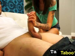 FetishNetwork Kendra Cole sloppy HJ to stepdad