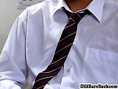 Dilf teacher facializes student after class