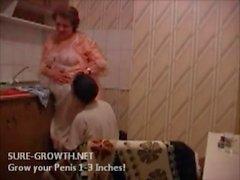 BBW Granny fucks the boy from next door