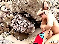 Джесси Jordan сладким глава на пляж