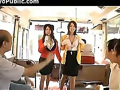 Japanese Bus Girls In Uniform - Public 150284