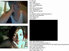 French lady showing stuff #Chatroulette