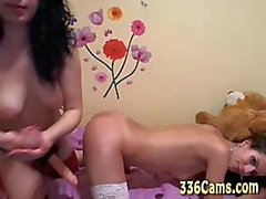 2 Sweet Girls Strapon Sex On Webcam