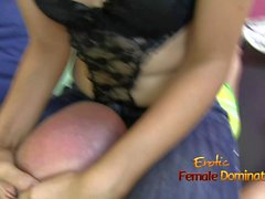 Mistress tight jean facesitting fetish
