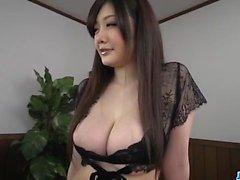 Rie Tachikawa, big tits Japanese, enjoys a good cock