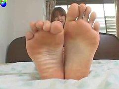 Asian girl feet.