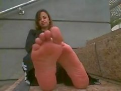 Persian Girl Takes Her Shoes Off and Shows Her Smelly Feet