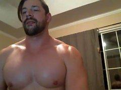 Muscle Gay Guy Solo Wanking