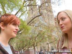 Amazing Lesbians Caomei Bala and Sicilia Share a Vibrator