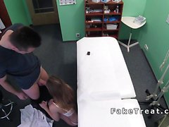 Cock hungry nurse fucking patient
