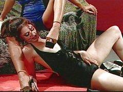 Lesbian fetish high heels masturbation