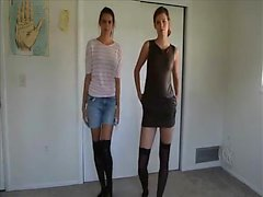 Two women stripping