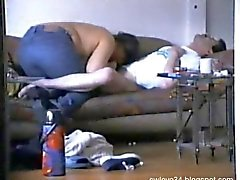 Fat Cheating wife gives a nice blowjob