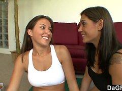 One steamy lesbian yoga session