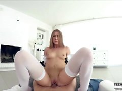 Hardcore VR fucking with sexy maid Alexis Crystal