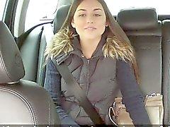 Поддельные водитель такси записывать его половые на людях