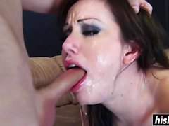 Jennifer White enjoys giving a blowjob