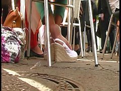 Erstaunliche Sohle über Keil-Sandalen