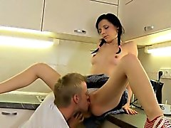 Pretty playgirl is getting her wet pussy and anal delighted