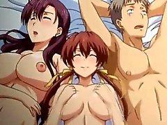 Hentai Dreier mit zwei Schlampen gebumst Sex